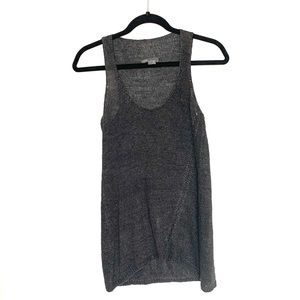 VINCE Grey Linen Sweater Tank
